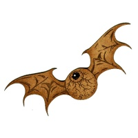 Flying Eyeball with Bat Wings Style 1 - MDF Wood Shape