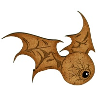 Flying Eyeball with Bat Wings Style 2  - MDF Wood Shape