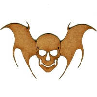 Flying Skull with Bat Wings - MDF Wood Shape