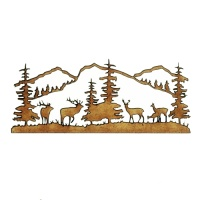 Winter Deer Scene Style 5 - MDF Wood Shape