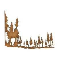 Winter Tree Scene MDF Wood Shape - Style 2