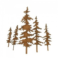 Winter Tree Scene MDF Wood Shape - Style 4