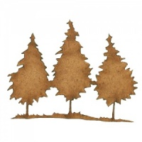 Winter Tree Scene MDF Wood Shape - Style 3