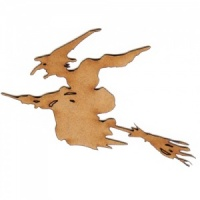 Witch on Broomstick MDF Wood Shape - Style 3