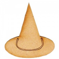 Witches Hat MDF Wood Shape - Style 1