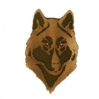 Wolf Head MDF Wood Shape