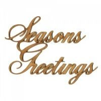 Seasons Greetings - Wood Words in Ancestry Font