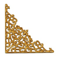 MDF Wood Corner Style 1 - Fancy Lace Flourish