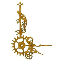 Steampunk Cogs & Clock Hands - MDF Wood Corner