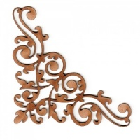 Baroque Flourish MDF Wood Corner Embellishment - Style 19