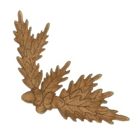 Acorns & Oak Leaves MDF Wood Corner