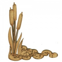 Bulrushes MDF Wood Corner Embellishment - Style 26