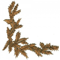 Fir Boughs MDF Wood Corner - Style 29