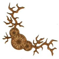 Quirky Flowers MDF Wood Corner Embellishment - Style 40