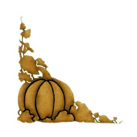 Autumn Pumpkins & Vines MDF Wood Corner