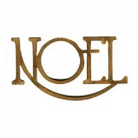 Noel - Wood Word in Coventry Garden Font