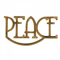 Peace - Wood Word in Coventry Garden Font