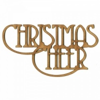 Christmas Cheer - Wood Words in Coventry Garden Font