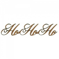 Ho Ho Ho - Wood Words in Ancestry Font