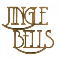 Jingle Bells - Wood Words in Coventry Garden Font
