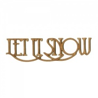 Let It Snow - Wood Words in Coventry Garden Font