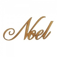 Noel - Wood Word in Ancestry Font