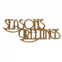 Seasons Greetings - Wood Words in Coventry Garden Font