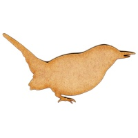 Wren MDF Wood Bird Shape