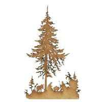 Christmas Nativity Scene MDF Wood Shape Style 1