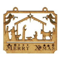 Christmas Nativity Scene MDF Wood Shape Style 2