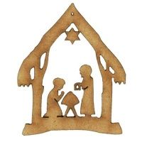 Christmas Nativity Scene MDF Wood Shape Style 3