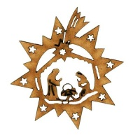 Christmas Nativity Scene MDF Wood Shape Style 5