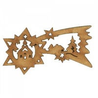 Christmas Shooting Star MDF Wood Shape