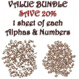Mini MDF Alphabet & Numbers Value Pack
