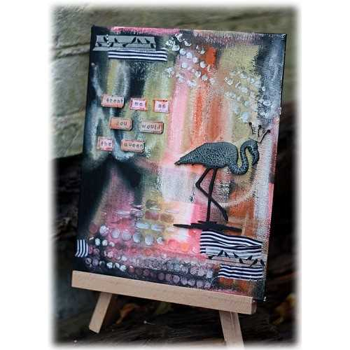 Flamingo Canvas by Lesley - www.calicocraftparts.co.uk