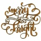 Merry & Bright - Decorative MDF & Birch Ply Wood Words - LARGE