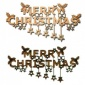 Merry Christmas & Stars - Decorative MDF & Birch Ply Wood Words - LARGE