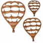 Hot Air Balloon MDF Wood Shape Style 2