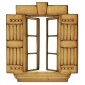 Stone Surround Shuttered Window - MDF Wood Shape