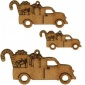 Vintage Truck with Gifts & Treats - MDF Wood Shape