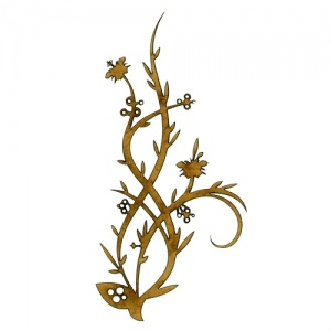 Flowering Wild Grass - Decorative Flourish Style 25