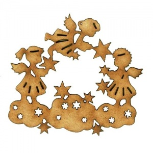 Angels, Clouds & Stars - MDF Wood Shape