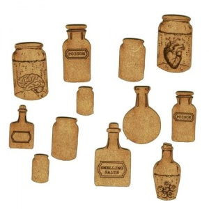 Apothecary Jars & Body Parts - MDF Add On Sheet