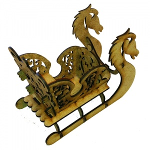 Horse Sleigh - MDF Kit - Style 3