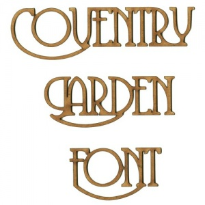 Coventry Garden MDF Wood Font - Create A Word - Max 6 Letters