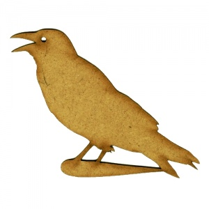 Squawking Crow MDF Wood Shape