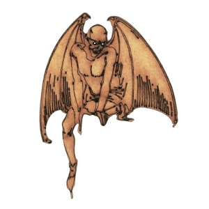 Winged Devil MDF Wood Shape