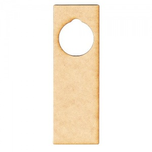 Rectangle MDF Wood Door Hanger - Style 01