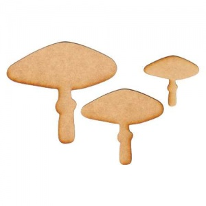 Toadstool Silhouettes x 3 - MDF Wood Shapes