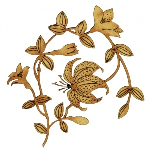 Lily Flowers - MDF Floral Wood Shape Style 46